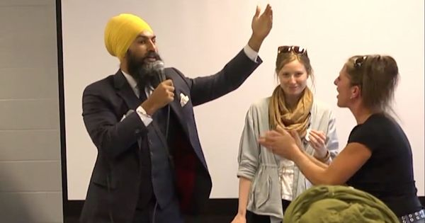 Caught on camera: How Canadian politician Jagmeet Singh responded to a racist heckler