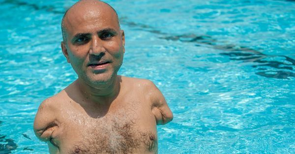Meet the man who swims, plays tennis and drives using his legs
