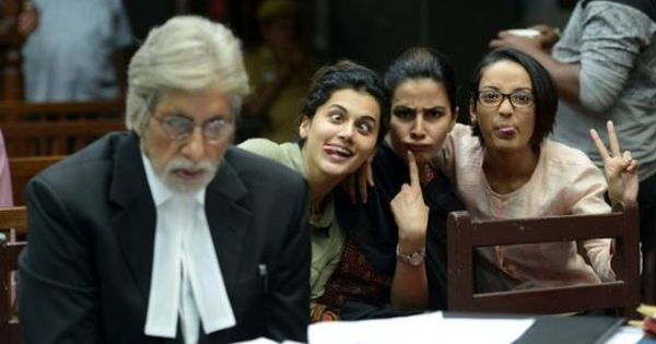 Amitabh Bachchan gets criticised for sharing photo of all-male crew of 'Pink'