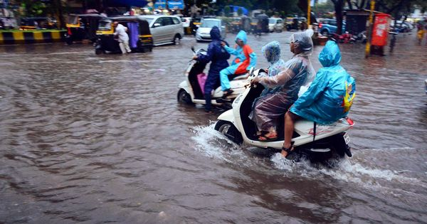 In photos: Heavy rain in Mumbai, more expected till Wednesday morning