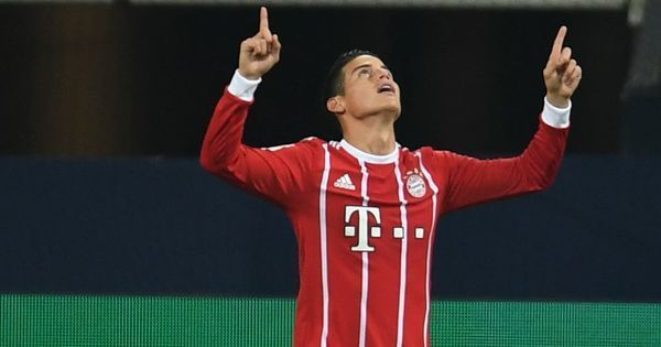 James Rodriguez scores debut Bundesliga goal as Bayern Munich top table first time this season