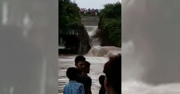 Watch: Rs 389-crore dam in Bihar collapses a day before Nitish Kumar was meant to inaugurate it