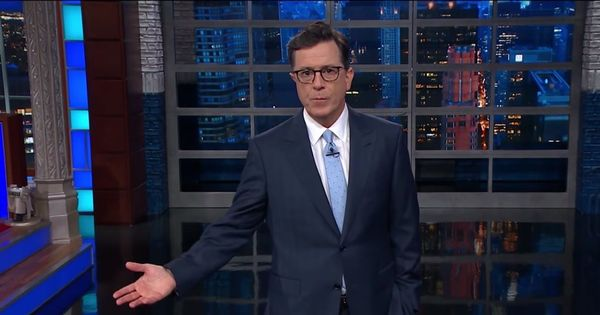 Watch Stephen Colbert tear apart Donald Trump's violently aggressive UN speech, bit by bit