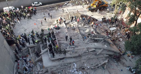 In photos: Rescue work underway in Mexico after earthquake kills 217