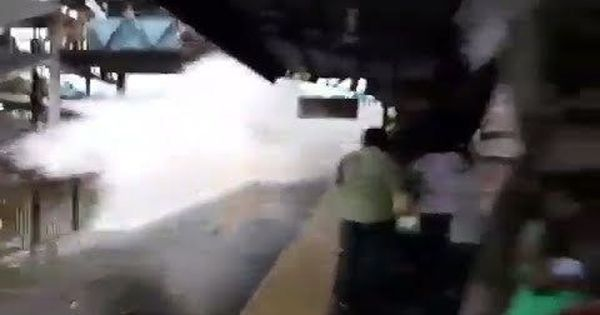 Watch: Train speeds through flooded tracks at Mumbai station, Western Railway orders inquiry