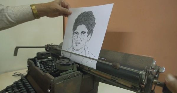 Video: Meet the man who drew Sachin Tendulkar with a typewriter