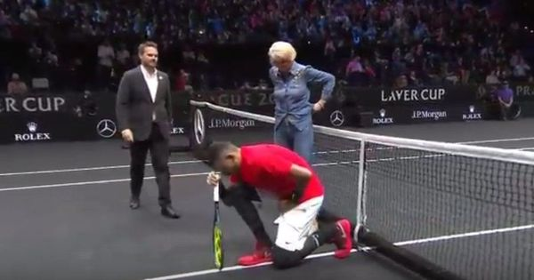 For his grandparents, not Trump: Kyrgios denies kneeling in protest against US President