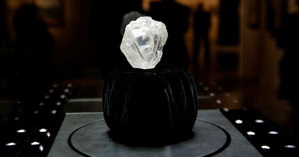 Century's largest uncut diamond, the size of a tennis ball, sold for $53 million
