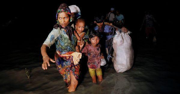 म्यांमार में हिंसा और भूख से परेशान हजारों नए रोहिंग्या शरणार्थियों का बांग्लादेश पलायन