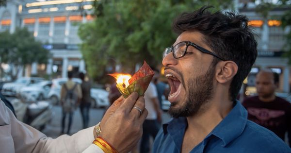 Watch how this Delhi shop is growing in popularity thanks to the fire in their paan