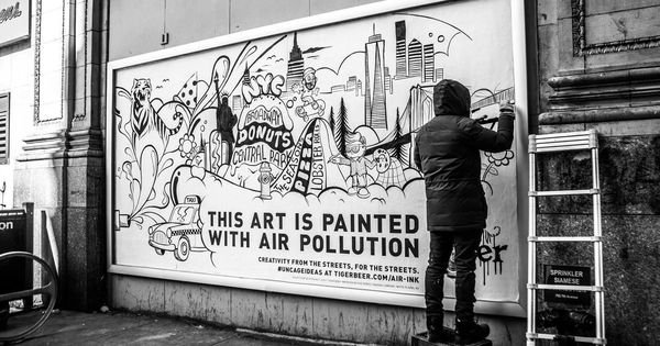 Four Indian scientists' solution to purify choking cities – ink made from air pollution