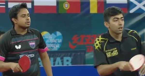Harmeet Desai and Souymajit Ghosh clinch silver in Polish Open table tennis tournament