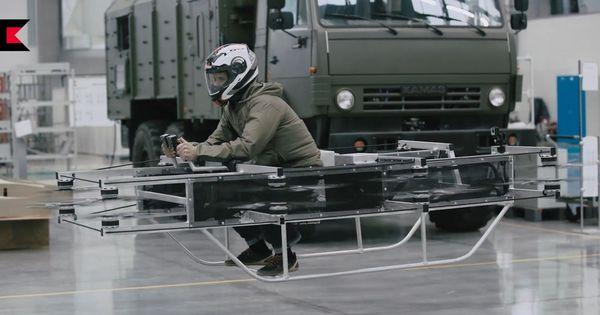 एके-47 बनाने वाली रूसी कंपनी ने दुनिया की पहली उड़ने वाली 'बाइक' बनाई