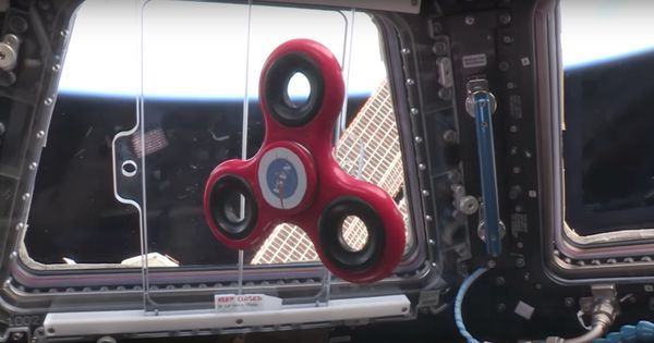 What happens when you spin a fidget spinner in zero gravity? Watch this video from space