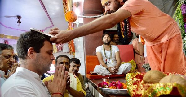 Why is the BJP so upset at Rahul Gandhi's visits to temples in poll-bound Gujarat?