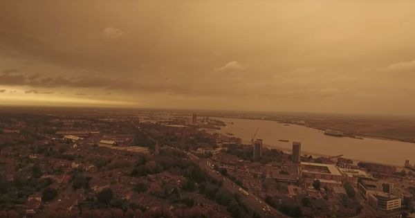 Watch: When the skies over the United Kingdom turned an apocalyptic shade of yellow