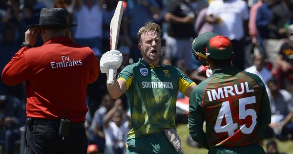 Brutal AB de Villiers blows away Bangladesh, hands South Africa series win