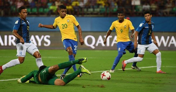 Fifa U-17 World Cup: Brazil outclass Honduras to set up quarter-final clash against Germany