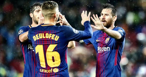 Champions League: 10-man Barcelona cruise to 3-1 win against Olympiakos