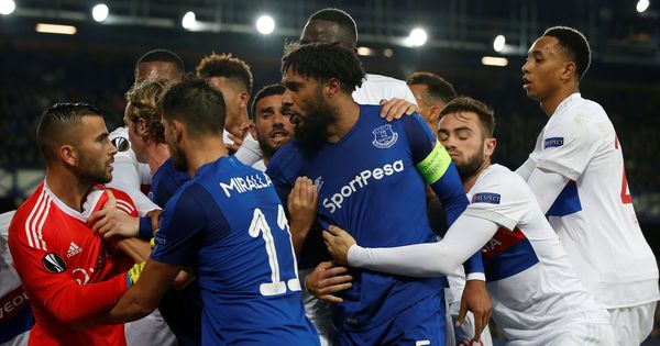 Everton ban child-carrying fan who attacked Lyon player during Europa League game