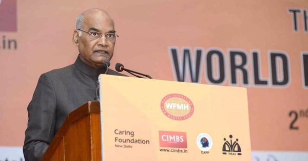India is staring at a mental health epidemic, says President Ram Nath Kovind