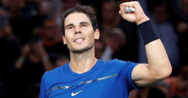 Rafael Nadal battles past Pablo Cuevas to reach quarter-finals at Paris Masters