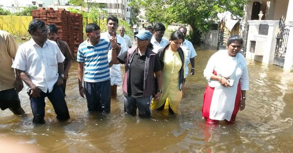 In Chennai, some localities worked early to avoid flooding – by getting their drains cleaned