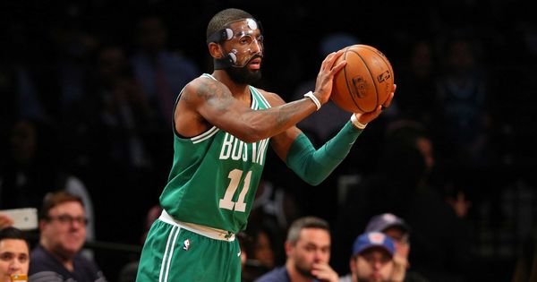 Masked Kyrie Irving powers Boston Celtics to their 13th consecutive NBA victory