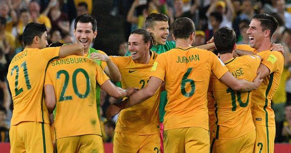 Skipper Mile Jedinak's hat-trick fires Australia into 2018 World Cup