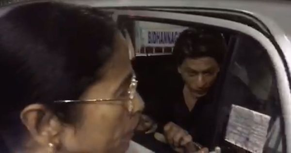 Driving with Mamata Banerjee? You get the back seat in her Santro, even if you're Shah Rukh Khan
