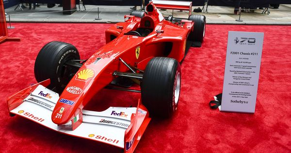 Michael Schumacher's Grand Prix-winning Ferrari sold for record $7.5 million