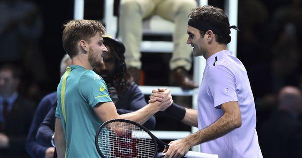 David Goffin shocks Roger Federer to reach title clash at ATP Finals