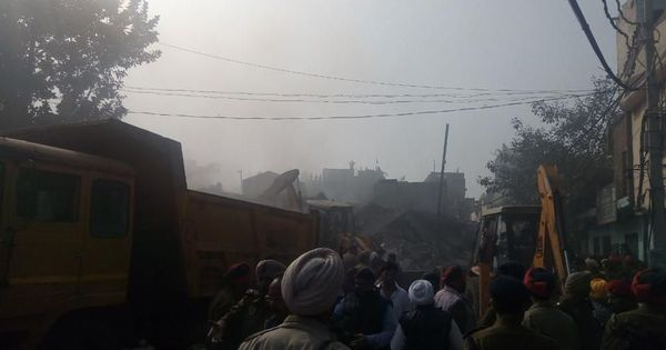 Punjab: Three killed, several trapped as Ludhiana factory catches fire and collapses