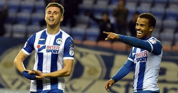 Two goals and a baby: Wigan's Ryan Colclough has an evening to remember