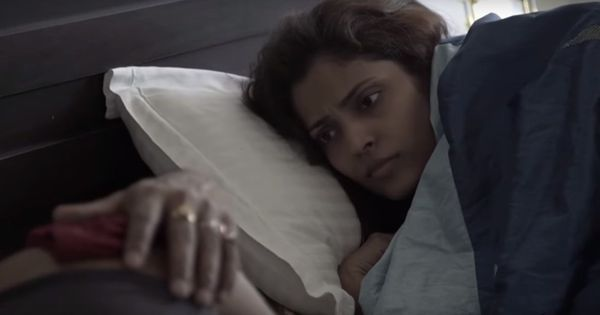 Watch: Husband, wife and magenta undergarments in the short film 'In Brief'