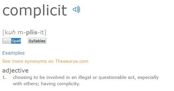 'Complicit' is Dictionary.com's word of the year