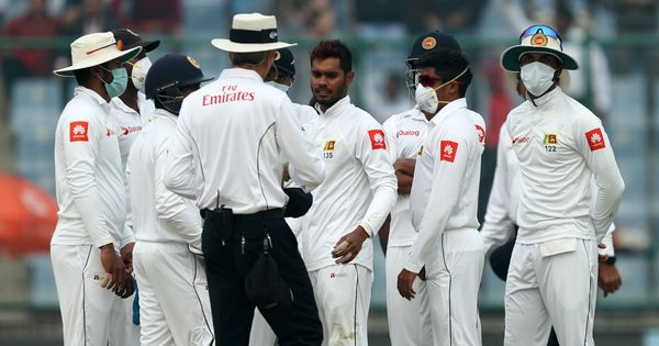 Sri Lanka pacer Lakmal vomits on fourth day of smog-choked Delhi Test