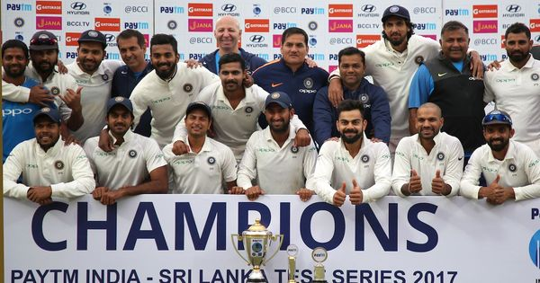 Data check: India equals record for most consecutive Test series wins