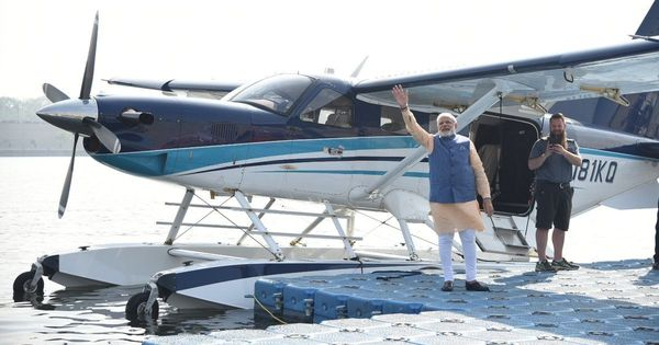 Foreign craft, broken norms: Modi's seaplane adventure was the perfect metaphor for Acchhe Din