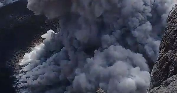 Did this hiker know he was risking his life making a video of a volcano while it was erupting?