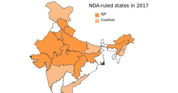 BJP may have been dented in Gujarat, but the saffron sea now covers 19 states