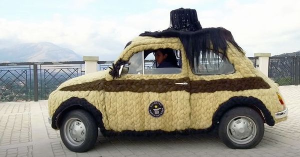 Video: Meet the Italian woman who has decorated her car with 100 kgs of human hair