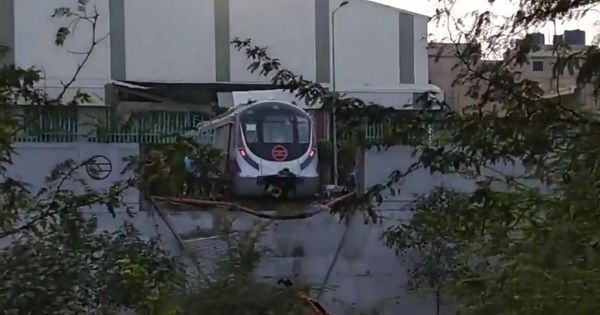 Delhi Metro authority suspends four employees after unmanned train crashes through depot wall