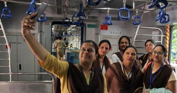 Smiles and selfies: Mumbaikars welcome new air-conditioned trains – but wish the fares were lower
