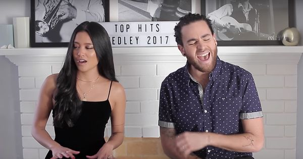 Watch two musicians (and a keyboard) perform 2017's most popular hits in just four minutes