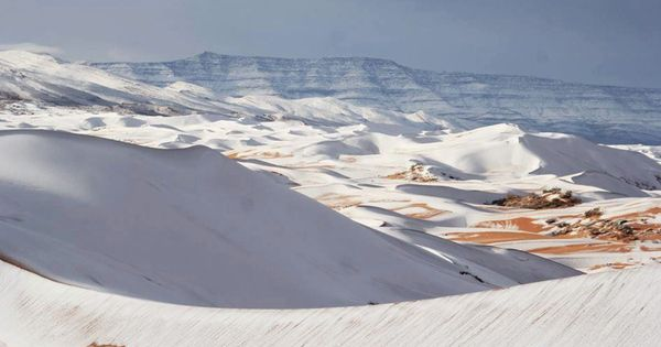 In photos: Rare snowfall covers parts of Sahara, the hottest desert in the world