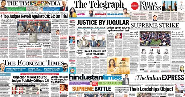 'Justice League': Here's what front pages say about the rebellion of four senior SC judges