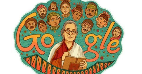 Google doodle honours author-activist Mahasweta Devi on her 92nd birth anniversary
