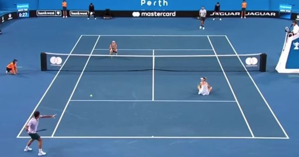 Watch: Did Federer and Sock forget they were playing a mixed doubles tennis match?