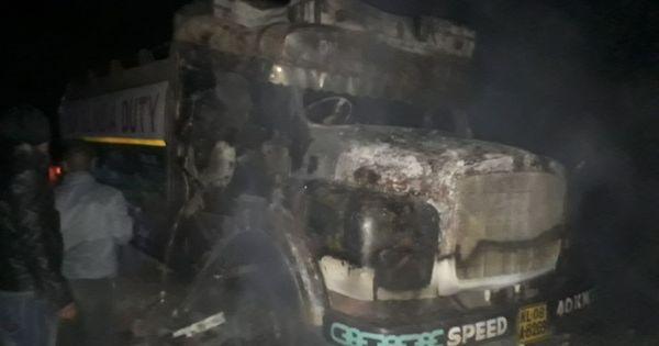 Assam: Suspected NSCN (K) militants set ablaze nine oil tankers, no casualties reported